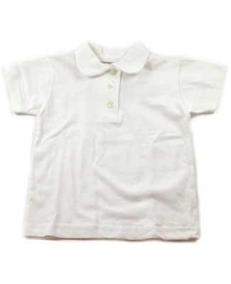 6m: GaliPette White S/S Polo Shirt
