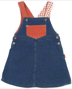 R: Petit Boy Red and Blue Denim Jumper