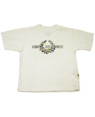 5y: Gumboots White Flower Wreath S/S Tee