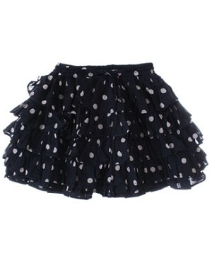 Room Seven Navy Dot Frilly Skirt
