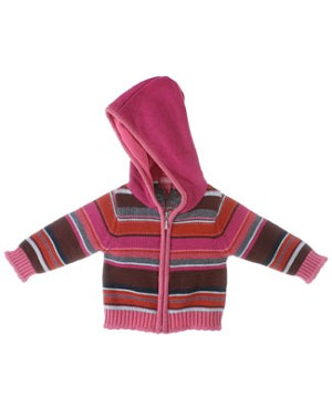 Room Seven Multi Stripe Cardigan With Hood