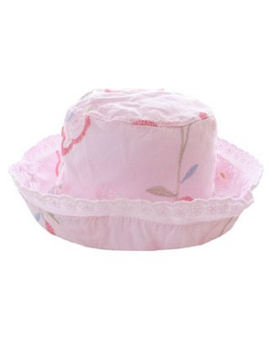 II: Rose Cage *Embroidered Floral* Pink Bucket Hat