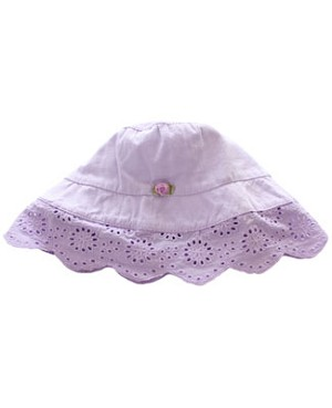 Infant Small (3/6m) II: Rose Cage Lilac *Little Sister* Bucket Hat