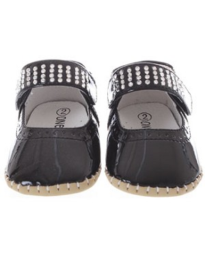 One Ruby Lane Jennifer Black Patent Leather Infant Shoes