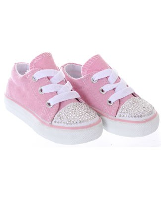 One Ruby Lane Big Tiff Low Top Pink Sneaker Shoes