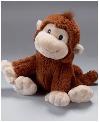 Russ Plush Medium Brown Monkey