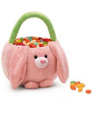 Russ Pink Bunny Plush Easter Basket