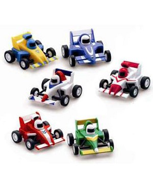 Russ Wind-Up Formula One Race Cars