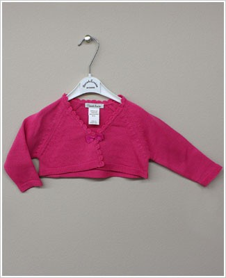 Sarah Louise Fuchsia Cardigan Shrug with Bow