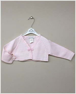 Sarah Louise Pink Cardigan Shrug with Bow