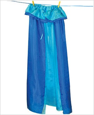 Sarah's Silks Blue/Turquoise Reversible Cape