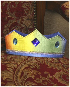 Sarah's Silks Rainbow/Sky Reversible Crown