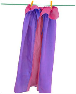 Sarah's Silks Purple/Rose Reversible Cape