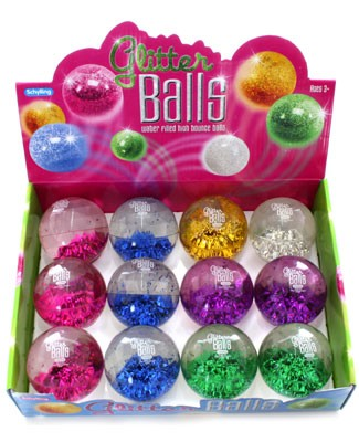 Schylling Glitter High Bounce Ball *Many Colors!*