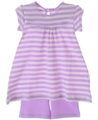 Scout Orchid/Cream Stripe Discover Swing Top & Orchid Short Set