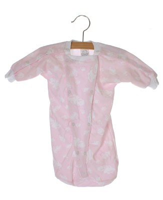 II: Sew Sweet Stitches *Preemie* Pink Cloud Hospital Nightie