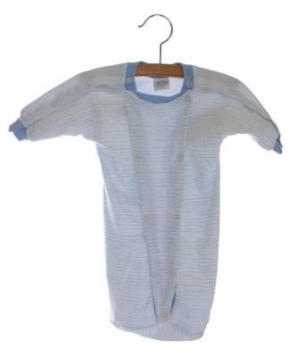 II: Sew Sweet Stitches *Preemie* Blue Striped Hospital Nightie