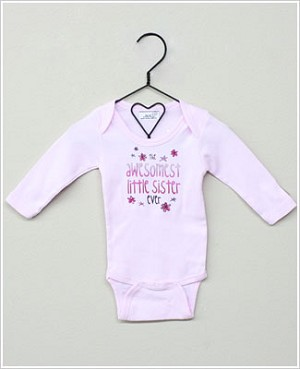 She's The One Pink *Awesomest Little Sister Ever* L/S Bodysuit