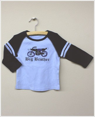 She's The One L/S Light Blue/Navy *Big Brother* Raglan Motorcycle Tee