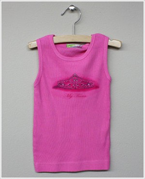 She's The One *My Tiara* Fuschia Ribbed Tank Top