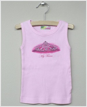 She's The One *My Tiara* Light Pink Ribbed Tank Top