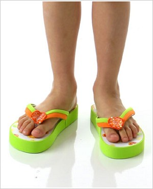 6/8 (mom size) II: Kate Mack Fruit Punch Green Shoes