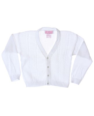 R: Sophie Dess White Button Up V-Neck Knit Sweater