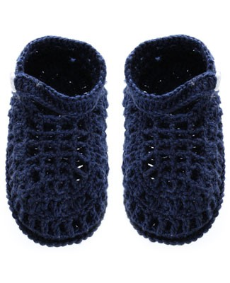 R: Sophie Dess Navy Knit Booties