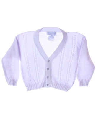 R: Sophie Dess Lavender Button Up V-Neck Knit Sweater