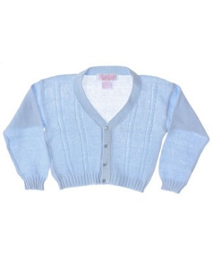 R: Sophie Dess Light Blue Button Up V-Neck Knit Sweater
