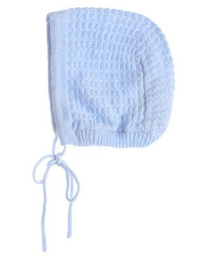 R: Sophie Dess Blue Knit Bonnet