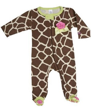 Sozo Giraffe Footed Romper