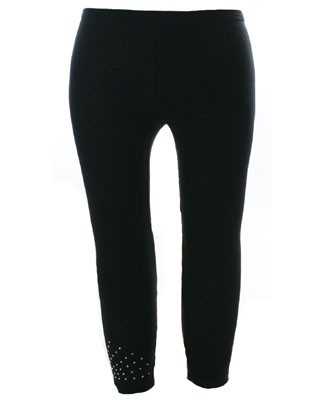 II: Stella Industries Black Rhinestone Leggings