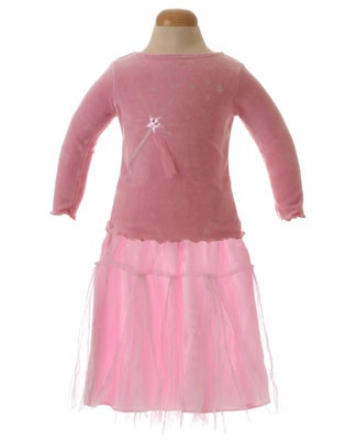 II: Sweet Potatoes *Little Princess* Pink Ballet L/S Tee and Tutu Skirt Set