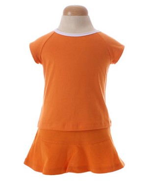 II: Sweet Potatoes *Flip* Orange Raglan Tee and Skort Set