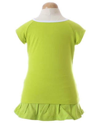 II: Sweet Potatoes *Flip* Lime Green Raglan Tee and Skort Set