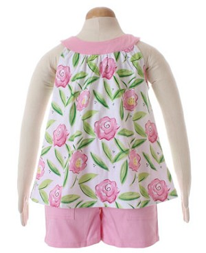 II: Sweet Potatoes *Flip* Vive La Rosa Tank and Short Set