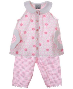 Sweet Potatoes *Pretty In Pink* Pink And White Tunic And Pant Set