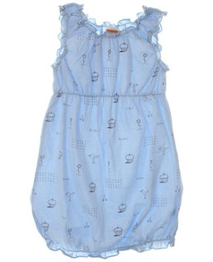 Sweet Potatoes *Bon Bon Blue* Blue And Brown Tank Dress