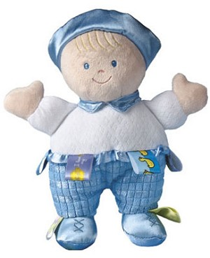 I: Taggies Baby Boy Blue Doll
