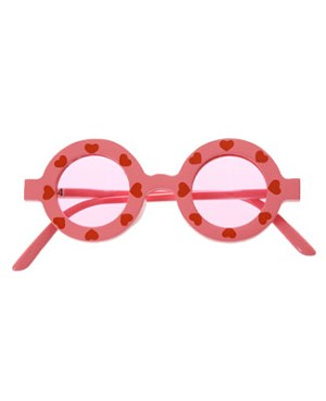 II: Tatiri Pink With Red Hearts Sunglasses