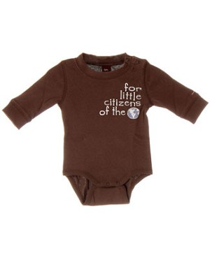 Tea Brown *Little Citizens of the World* Bodysuit