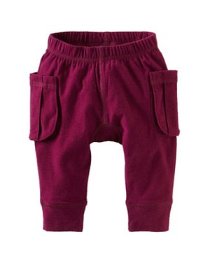 Tea Burgundy Cargo Gypsy Baby Pants
