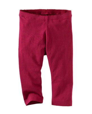 Tea Fuschia Skinny Capri Leggings