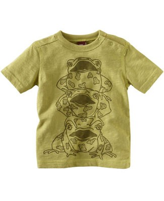 Tea Green S/S Leap Frog Tee