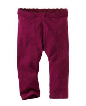 Tea Burgundy Skinny Capri Leggings