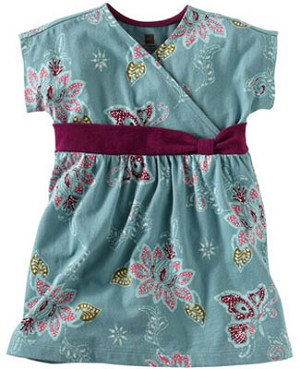 Tea Teal Lotus Batik Knot Dress