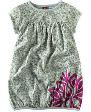 Tea Aqua Lotus Flower Play Dress