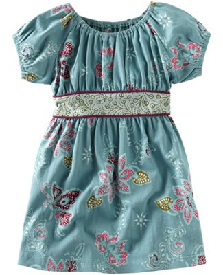 Tea Teal Lotus Vines Dress