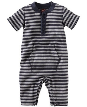 Tea Navy S/S Raya Stripe Romper